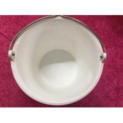 Spand Hvid 14 ltr Kraftig Kvalitet.