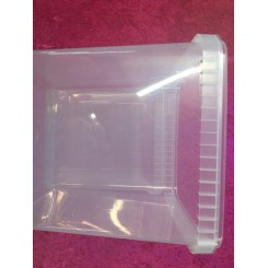 Plastbøtte firkantet 5,0ltr. Med låg 1stk