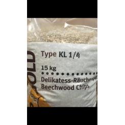 Røgsmuld/Flis KL1/4 Ca 6mm  15KG/Sæk